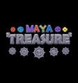 stone inscription treasures maya vector image vector image