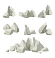 stones collection different rocks elements from vector image