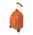 suitcase wheel icon isometric 3d style vector image vector image