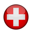 switzerland flag in glossy round button of icon vector image