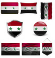 syria flag vector image vector image
