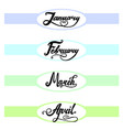 template of top banner for your own calendary vector image vector image