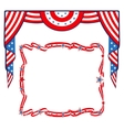 US Flag patriotic border template vector image vector image