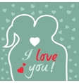 Valentine s Day Heart and Love Background vector image vector image