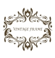 Vintage floral and foliate frame vector image vector image