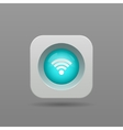 Wi-fi button vector image vector image