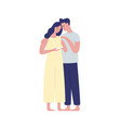 young future parents hugging flat vector image vector image