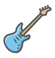 bass guitar filled outline icon music vector image