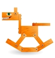 Wooden toy horse vector image