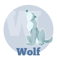 ABC Cartoon Wolf3 vector image vector image