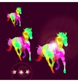 Abstract horse of geometric shapes with stars vector image vector image