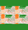 abstract orange and green strokes with circles vector image