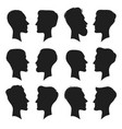 adult male head profile silhouette man icon vector image