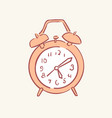 alarm clock hand drawn style doodle design vector image