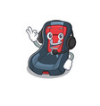 baby car seat cartoon character design headphone