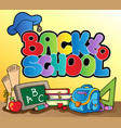 back to school topic 1 vector image vector image