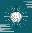 ball sport volleyball sunburst color background vector image