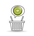 basket market sweet kiwi icon design vector image