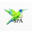 Beauty natural spa bird vector image