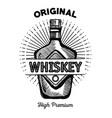 best whiskey bottle drawn label vector image vector image