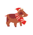 boar symbol of new year cute animal of chinese vector image