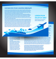 brochure airplane flight travel air fly airplane vector image