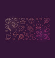 broken love colorful outline vector image vector image