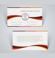 business card simple template with stripes vector image vector image