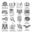 Business management icons Pack 05 vector image vector image