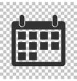 Calendar sign Dark gray icon on vector image