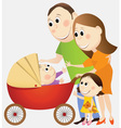 Cartoon happy family vector image vector image