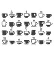 coffee and tea beverage cups vector image