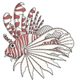 Color image lionfish vector image