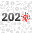 coronavirus 2020 year concept vector image