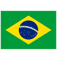 correct brazil flag accurate ratio font colors vector image
