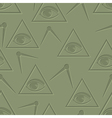 Eye in triangle background vector image vector image
