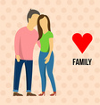 Family with love vector image vector image