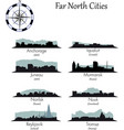 far north cities collection vector image vector image