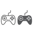 gamepad line and glyph icon electronic vector image