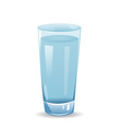 glass with water isolated on white background vector image vector image