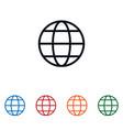 globe icon isolated on white background globe vector image vector image