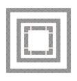 greek black frame vector image vector image