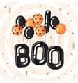 Halloween template vector image