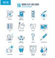 healthcare medicine advanced education research vector image vector image