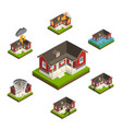 household insurance isometric set vector image