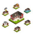 household insurance isometric set vector image