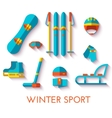 icon set of winter sport Flat design vector image vector image