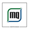 initial letter mq logo template design vector image