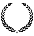 laurel wreath - symbol of victory and achievement vector image vector image
