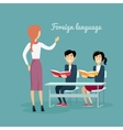 Learning a Foreign Language Conceptual Banner vector image